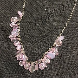 Jewelry - Delicate Lavender waterfall necklace!